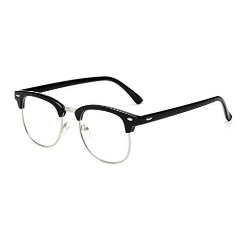 Hibote Männer Frauen Brille - Klare Linse Brillengestell - Mode Brillen Eyewear - 18082311