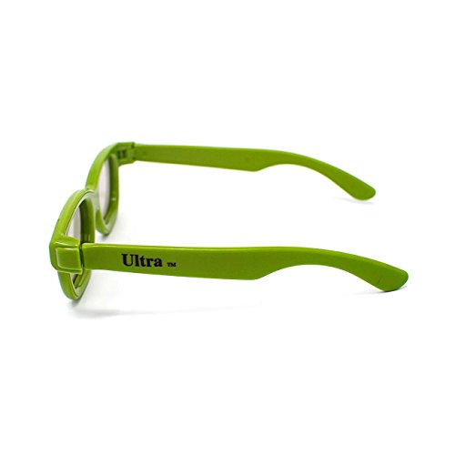 3 Paare von Green Passive 3D Brille für Kinder Kinder Universal für mit passiven 3D-Kino Tvs und Projektoren wie LG Panasonic Finlux und vieles mehr verwenden