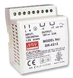 MeanWell Rail DIN, PSU, 12V, 3,5A DR-4512