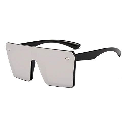 CCGKWW Mode Oversize Randlose Quadratische Sonnenbrille Frauen Vintage Flat Top Integrierte Farbverlauf Sonnenbrille Männer Uv400
