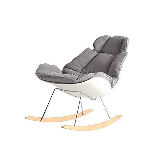 CZPF Nordic Sofa Stuhl Schaukelstuhl Balkon Stuhl Modern Minimalist Adult Home Wohnzimmer Liege Kreative Freizeit Persönlichkeit - Hocker Gepolsterte Schaukelstuhl