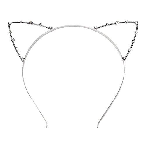 ROSENICE Stirnband Katzenohren Form mit Strass für Maskerade Weihnachten ()