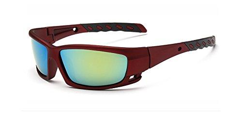 Zokra (TM polarisierten Mode Sonnenbrillen Sport-Mann-Frauen Qualit?t Angeln Fahren Sonnenbrillen Hipster Gafas De Sol [Sand Rot Gr¨¹n]