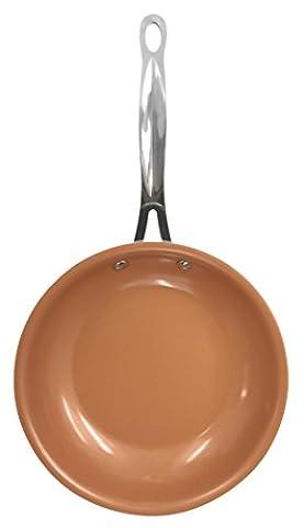 GOTHAM COPPER STEEL Poêle Céramique/Titane Noir 32 x 32 x 5 cm - Vu à la Télé
