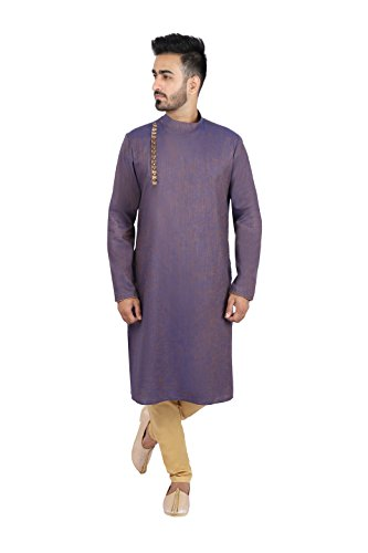 Thaath Men's Two-Toned Kurta Pyjama Set (Eid Collection)