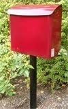 SafePost 21 Briefkasten weinrot 38 x 43,5 cm