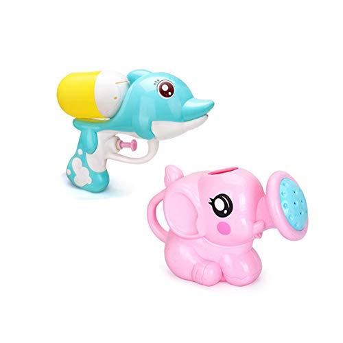 Beito Dolphin Water Gun Toy Mini-Elefant Wasser-Spray-Dusche Bade Spielzeug Sommer-Strand-Spielzeug für Kinder, Kleinkinder, Kinder 2 PCS (Elephant + Dolphin)