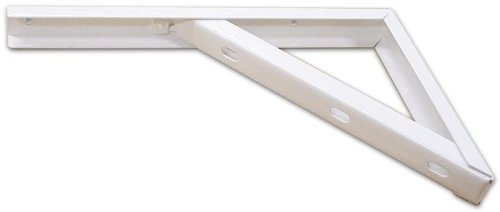 Regal verstärkt aus Stahl lackiert weiß Größe 30CM Art. 343conf. 6Stück - Stahl Verstärkte Regal