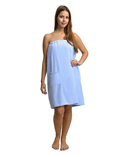 Damen Frottee Saunakilt 100% Baumwolle Größe 75 x 85 - 145 cm Blau