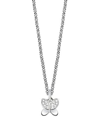 Morellato scz733, collana con charm drops, da donna, in acciaio inossidabile, con cristallo bianco