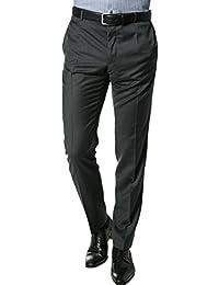 Strellson Premium Herren Hose Peak Schurwolle Pant Unifarben, Größe: 94, Farbe: Grau