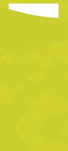(Duni 450052Sacchetto Besteck Taschen mit gefaltet Tissue Servietten Innen, 8,5cm x 19cm, kiwi Sacchetto und weiß Serviette (500Stück))