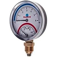 Medidor de temperatura y presión de 80 mm 1/2 BSP