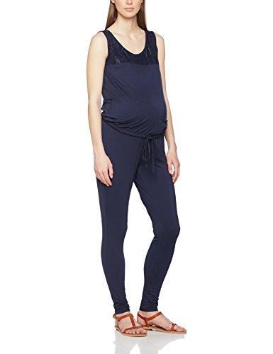 MAMALICIOUS Damen Umstandsoverall Mlbella Jersey Jumpsuit, Blau (Navy Blazer), 36 (Herstellergröße: S)