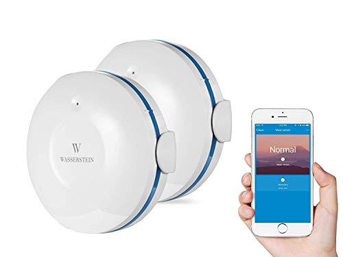 Smart WI-Fi Wassersensor, Überflutungs- und Leckdetektor - Alarm und App-Benachrichtigungen, Keine teuren Zusatzkomponenten erforderlich, Einfaches Plug & Play -von Wasserstein