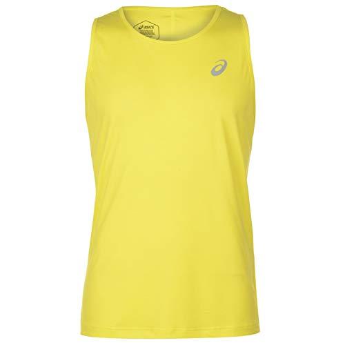 999eb7e3dc84 ASICS 2011A011-750, Silver Canotta da Running Uomo, Yellow, XL