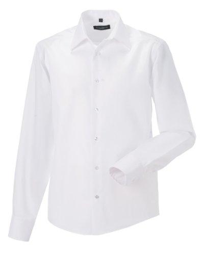 Chemise à manches longues sans repassage Russell Collection pour homme (Tour de cou 39cm) (Blanc)