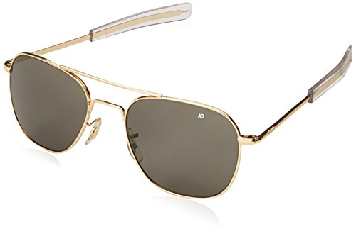 American Optical Pilot Aviator Sunglasses 55 mm Gold by AO Eyewear