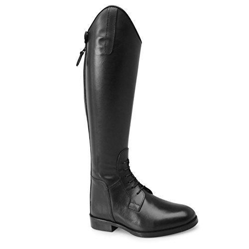 Shires Norfolk Boot Riding Femmes Chaussures Bottes Longues Equitation Lacets Noir