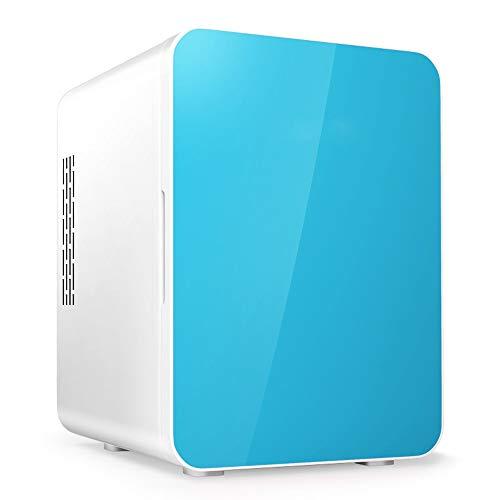 LSX - réfrigérateur Voiture Réfrigérateur-4L Mini Réfrigérateur Portable 12V / 220V Chaud Et Froid Réfrigérateur Petits Cosmétiques Lait Du Sein Petit Réfrigérateur (bleu, Blanc, Rose) Voiture