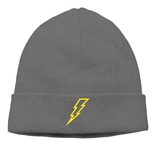 Preisvergleich Produktbild Lightning Flash Man Cable Knit Skull Caps Thick Soft & Warm Winter Beanie Hats for Women & Men Cotton Hat Unisex Cap