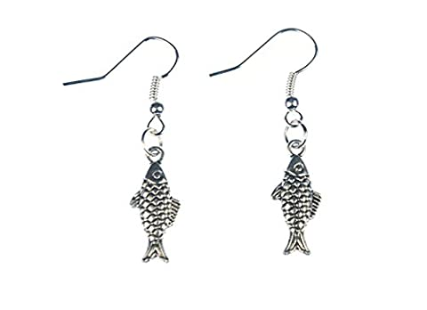 Trout Fish Earrings Miniblings Maritime Fishing Fish Silver