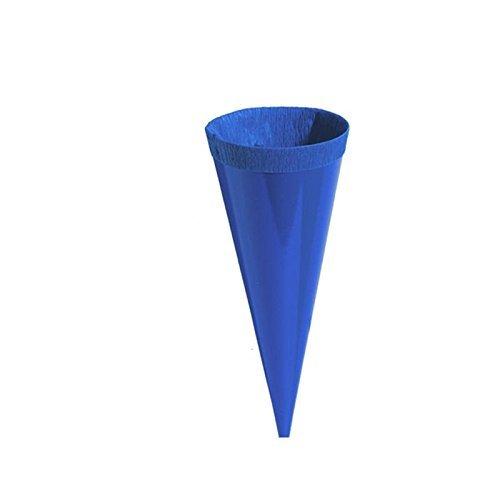 24 Kleine Schultüten Deko bunt Höhe 12 cm oberer Durchmesser 4 cm - 4