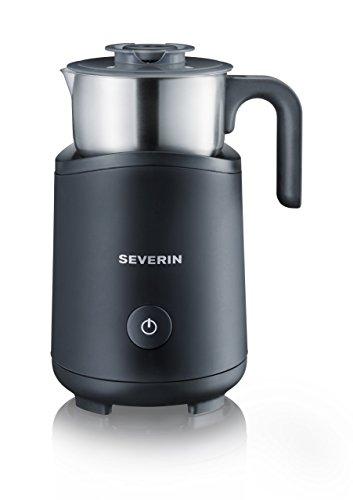 Severin SM 9495 Milchaufschäumer (500 Watt, Induktion, 180 ml, abnehmbar) Edelstahl/schwarz