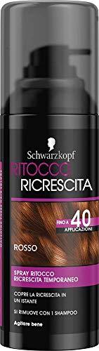 Schwarzkopf Ritocco Ricrescita, Spray Temporaneo per la Ricrescita dei Capelli, Rosso, 120ml