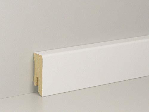 Fussleisten Weiß PVC 55mm Zubehörteile Sockelleisten Bodenleisten SPARPAKET