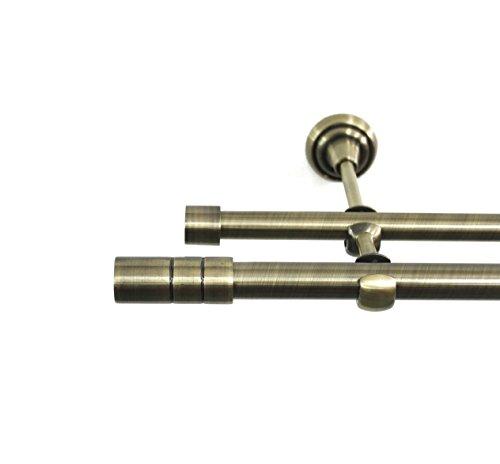 Rollmayer Metall Antik Gold Vorhangstange/Gardinenstange Ø 19mm Rohr (160cm Tosca, im Gold,...