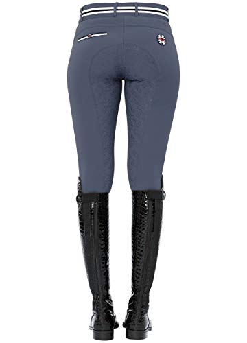 SPOOKS Damen Reithose Vollbesatz, leichte Damenreithose Reithosen Turnierreithose Vollbesatzreithose - Ina Light Full Grip Blue XL
