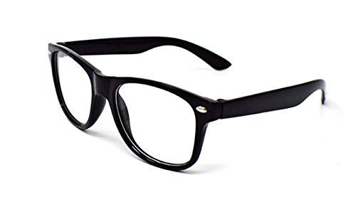 Ultra® Black Classic Style Multi Farbe Lichtscheibe klassische Rahmen ideal für Kostüme Partys Gläser Geschenk Nerds und Hipster (Nerd Kostüm Mädchen Für)