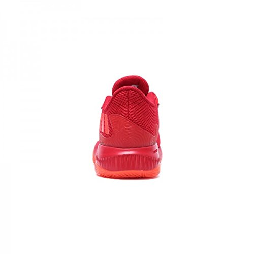 adidas  Crazy Fire, espadrilles de basket-ball homme Rouge - Rojo (Rojsld / Rojsol / Escarl)