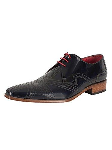 Jeffery West Homme Union Jack Shoes, Bleu Bleu