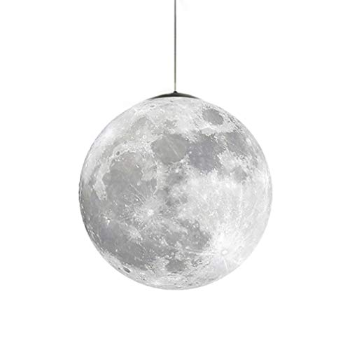 Universum Planet Mond Deckenleuchten - Modern Innen Kinderzimmer Leuchter Dachgeschoss Cafe Schlafzimmer Pendelleuchten(Birne ist nicht enthalten) A 22CM