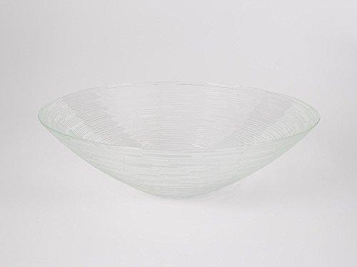 INNA Glas - Coupelle ronde en verre LINUS, transparent, 7,5 cm, Ø 25,5 cm - Coupelle dessert / Coupelle décorative