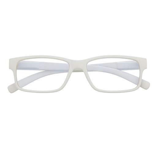 Gafas con Filtro Anti Luz Azul para Ordenador. Gafas de Presbicia o Lectura para Hombre y Mujer. Tacto Goma, Patillas Flexibles y Cristales Anti-reflejantes. 6 colores y 6 graduaciones – THYSSEN