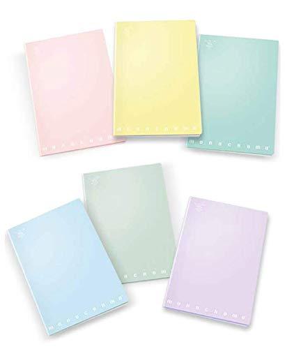 Pigna monocromo pastel 02282124m, quaderno formato a4, rigatura 4m, quadretti 4 mm per 4° e 5° elementare medie e superiori, carta 80g/mq, pacco da 10 pezzi