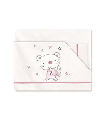 Pirulos- Juego de Sábanas Bebé Algodón- Colección Osito Star