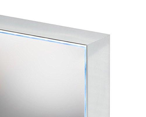 Specchio bagno stella con profilo in alluminio brill e luce led