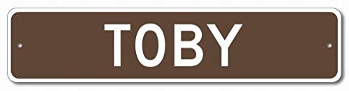 mefoll Wall Decor Sign Toby 4x16 Tin Sign Road Yard Metal Sign Notice Home Bar Decor by Vintage Toby