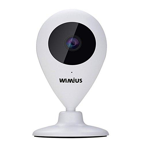 IP-Cmara-Camera-de-Vigilancia-HD-720P-Wifi-WiMius-Cmara-Seguridad-Lente-Gran-ngulo-109-Bidireccional-Audio-Visin-Nocturna-Deteccin-de-Movimiento-Alerta-Vista-Remota-Micrfono-Altavoz-Hasta-64GB-Memoria
