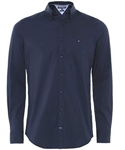 Tommy Hilfiger Core Stretch Slim Poplin Shirt, Camisa para Hombre
