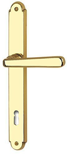 gedotec-door-handle-old-vienna-long-plate-set-door-fittings-handle-brass-polished-bb-pz-wc-din-stand