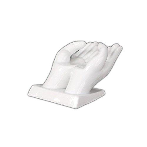 "Holst Porzellan ACS 011 Kartenhalter ""Hände"", weiß, 15 x 10.5 x 8.5 cm"
