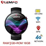 OVIO LEMFO LEM7 4G Smart Watch Android 7.0 2MP Camera GPS WiFi MTK6737
