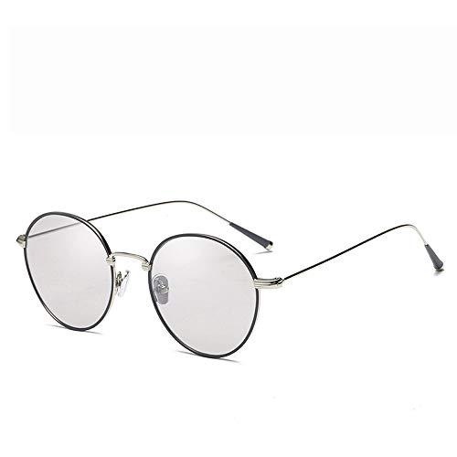 Yiph-Sunglass Sonnenbrillen Mode Sonnenbrille Metallrahmen Unisex Aviator Spiegel polarisierte Linse Sonnenbrille (Farbe : Grau, Größe : Casual Size)