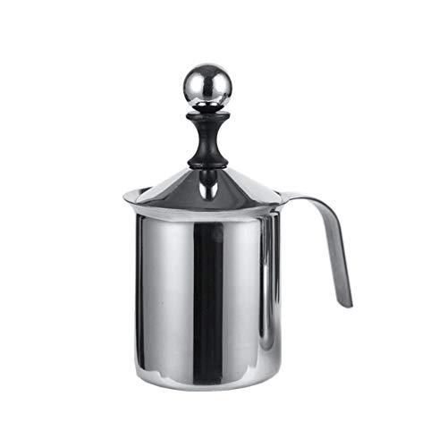 Homeofying Milchaufschäumer, doppelschichtig, 400/800 ml, für Kaffeeschäumer, 1, Silber, 400 ml