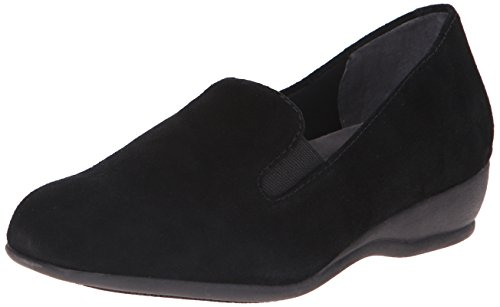 10 B(M) US, Black Suede : Trotters Women's Lamar Slip-On Loafer
